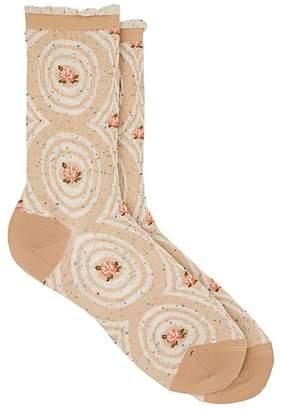 Antipast Women's Desert Rose Cotton-Blend Mid-Calf Socks