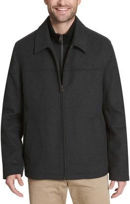 Dockers Men's Logan Wool-Blend Open-Bottom Bib Jacket