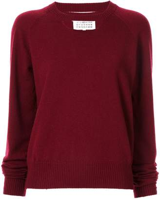 Maison Margiela knitted cut-out jumper