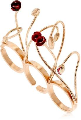 Futuro Remoto Gioielli Blooms Three Finger Ring