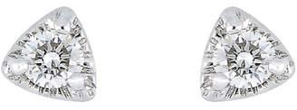 Bony Levy 18K White Gold Round-Cut Diamond Triangle Stud Earrings - 0.07 ctw