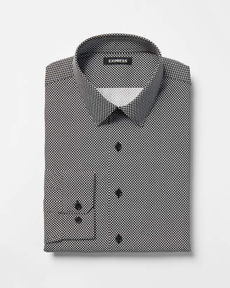 Express Slim Small Dot Cotton Dress Shirt