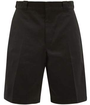 Prada Cotton Twill Chino Shorts - Mens - Black