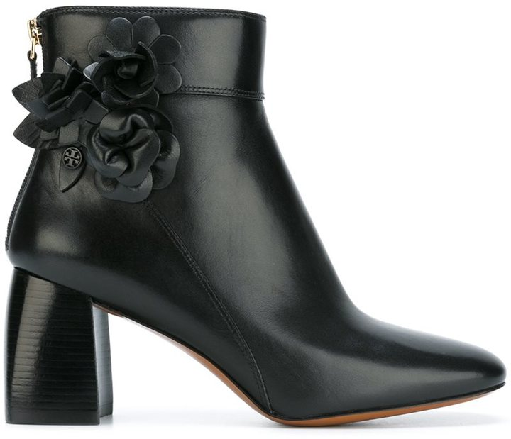 Tory Burch floral detail ankle boots