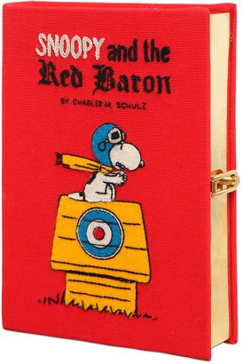 Snoopy Red Baron Embroidered Book Clutch $1,870 thestylecure.com