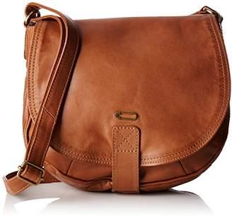 Kiss IKKS Waiter, Women's Shoulder bag, Marron (Camel), 6x24x22 cm (W x H L)