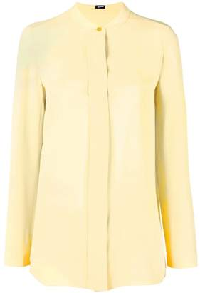 Jil Sander Navy single button blouse