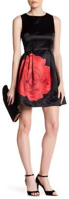 CeCe Claiborne Rose Print Dress