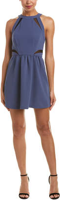 BCBGeneration Mesh Insert A-Line Dress