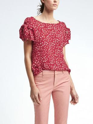 Easy Care Bow-Sleeve Top $78 thestylecure.com