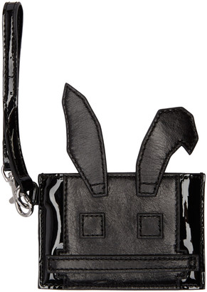 McQ Alexander Mcqueen Black Electro Bunny Card Holder $160 thestylecure.com