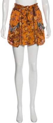 Isabel Marant Floral Silk Skirt