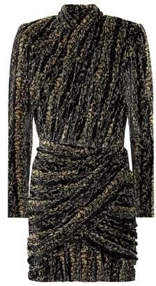 Balenciaga Metallic stretch-velvet minidress