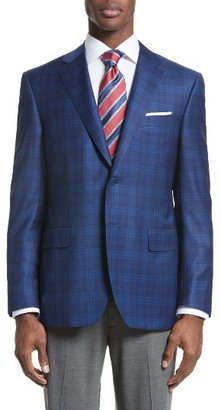 Men's Canali Classic Fit Check Wool Sport Coat $1,595 thestylecure.com