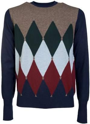 Ballantyne Diamond Patterned Sweater