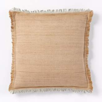 west elm Textured Silk Fringe Pillow Covers