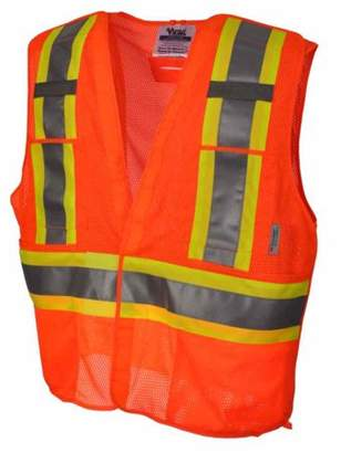Viking Big Men's 5 Point Tear Away Mesh Safety Vest