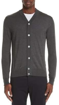 Eleventy Trim Fit Merino Wool & Silk Cardigan