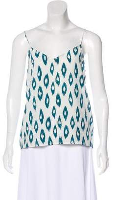 Equipment Silk Printed Sleeveless Top