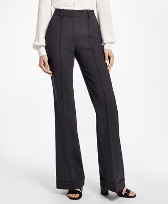 Brooks Brothers Cuffed Wide-Leg Tuxedo Pants