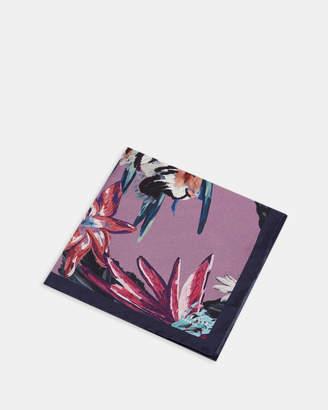 Ted Baker CHERTSY Tiger print silk pocket square