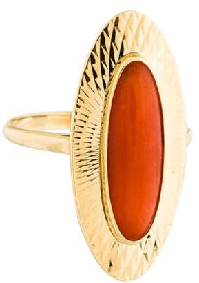 Ring 14K Coral Cocktail yellow 14K Coral Cocktail