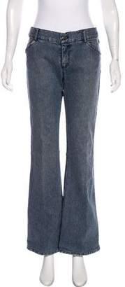 Alice + Olivia Mid-Rise Flared Jeans