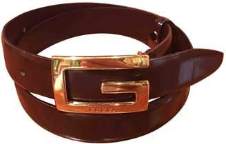 Gucci Vintage Brown Leather Belts