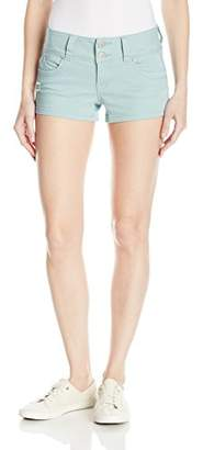 YMI Jeanswear Women's Wannabettabutt Super Soft Double Button Short