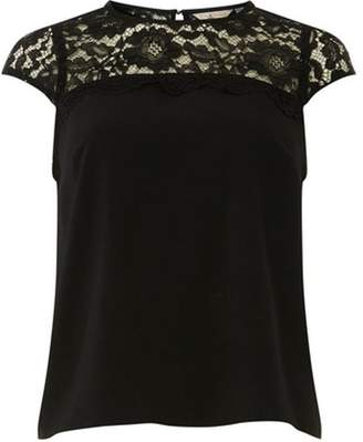 Dorothy Perkins Womens **Billie & Blossom Black Lace Shell Top