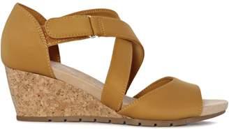 Bandolino Gaccetta Crisscross Wedge Sandals