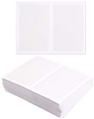 clear Juvale 100-Pack Self-Adhesive Business Card Holders - Pockets Open on Short Side - Ideal Organizing Safe Archiving Your Business Cards - Crystal Plastic