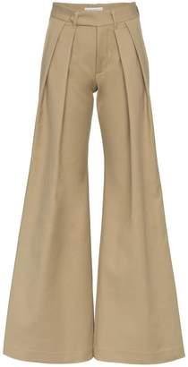 Matthew Adams Dolan pleated flared trousers