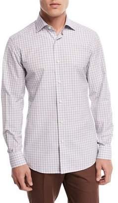 Ermenegildo Zegna Grid-Print Woven Sport Shirt