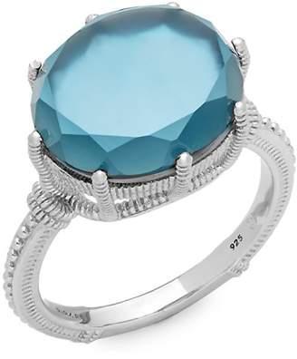 Judith Ripka Women's Blue Topaz Solitaire Ring
