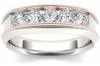 Imperial Diamond Imperial 1 Carat T.W. Diamond Pink Two-Tone Men's 14kt White Gold Ring