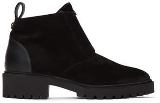 Giuseppe Zanotti Black Suede Tyson 20 Boots