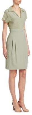 Akris Punto Polka Dot A-Line Silk Dress