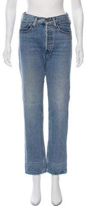 Valentino Mid-Rise Straight-Leg Distressed Jeans