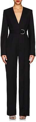 Calvin Klein Women's Virgin Wool-Blend Twill Tuxedo Jumpsuit