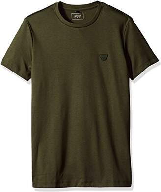 Armani Jeans Men's Plus Size Cotton Jersey Eagle Logo T-Shirt