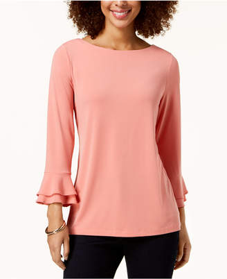 Charter Club Layered-Sleeve Boat-Neck Top