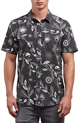 Volcom Men's Broha Short Sleeve Button up Hawaiian Shirt