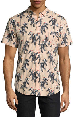 Arizona Short Sleeve Camouflage Button-Front Shirt