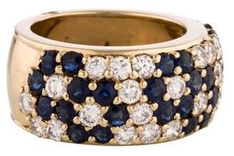 Ring Sapphire & Diamond Floral