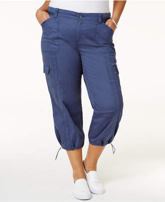 Style & Co Plus Size Capri Cargo Pants, Only at Macy's $29.98 thestylecure.com