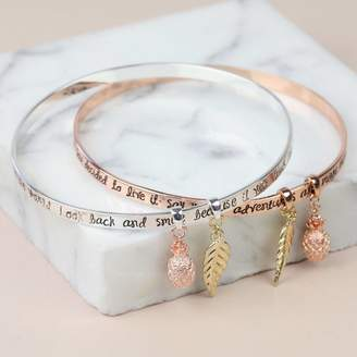 Lisa Angel 'Say Yes To Adventure' Meaningful Quote Bangle