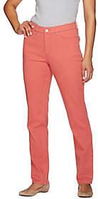 """Denim & Co. How Slimming"""" Tall Colored DenimStraight Leg"""
