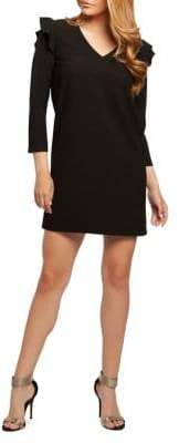 Dex Ruffle Shoulder Shift Dress