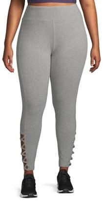 New York Laundry Women's Plus Size Active Criss Cross Leggings